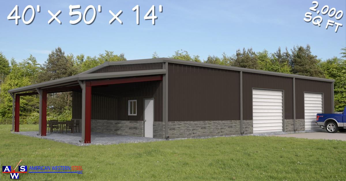 40X50 Metal Building Kit