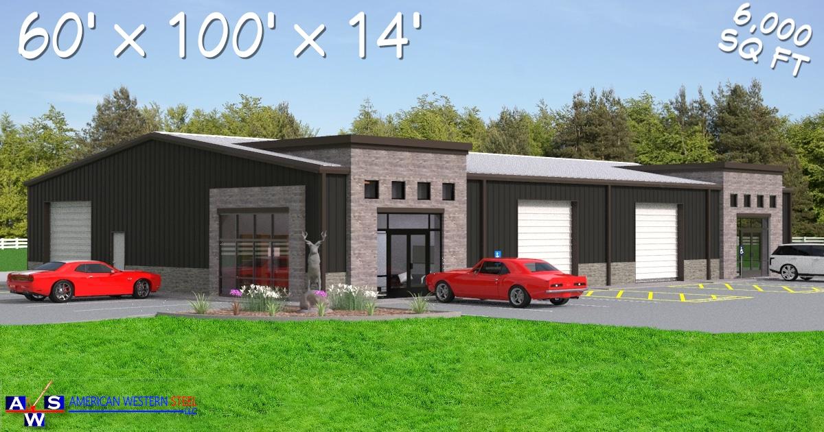 60X100 Commercial Metal Buildings